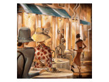 Bistro du Paradou Giclee Print by Trish Biddle