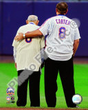 MLB Yogi Berra & Gary Carter Final Game at Shea Stadium 2008 Photo