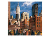 NY Streets Giclee Print by Didier Lourenco