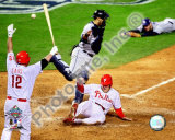 Eric Bruntlett Game 3 of the 2008 MLB World Series Photo