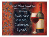Red Wine Selection Giclee Print by Will Rafuse