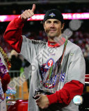 Cole Hamels w/2008 World Series MVP trophy Photo