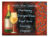 White Wine Selection Giclee Print by Will Rafuse