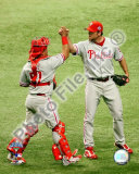 Brad Lidge & Carlos Ruiz Game one of the 2008 MLB World Series Photo