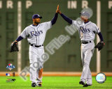 Carl Crawford & B.J. Upton 2008 ALCS Game 4 Photo