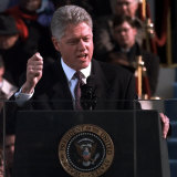 President Clinton Delivers Inaugural Speech after Being Sworn in for Second Term, January 20, 1997 Photographic Print
