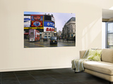 Commercial Signs on Buildings, Piccadilly Circus, London, England Wall Mural