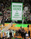 The Boston Celtics Raise their 2007-08 Championship Banner Photo