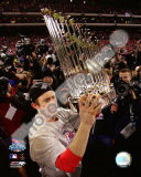 Chase Utley With World Series Trophy Photo