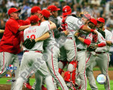 The Philadelphia Phillies 2008 Game 4 Celebration Photo