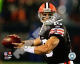 Cleveland Browns Brady Quinn 2008 Close - Up Photo