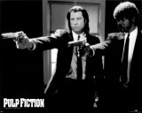 Pulp Fiction   Duo with Guns (Jackson and Travolta) B &amp; W Movie Poster Prints