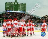The Detroit Red Wings Celebrate Winning the 2008-09 NHL Winter Classic Photo