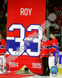 Patrick Roy & Carey Price Jersey Retirement Night 2008-09 Photo