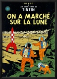 On a march&#233; sur la Lune, vers 1954 Poster par Herg&#233; (Georges R&#233;mi) 