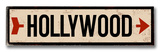 Hollywood arrow Wood Sign