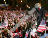Barack Obama during election night in Grant Park on November 4, 2008 in Chicago, Illinois Photo