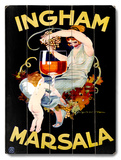 Ingham Marsala Wine Wood Sign