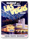 Union Pacific Las Vegas Deco Train Wood Sign