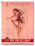 1956 New York City Ballet Wood Sign