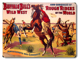 Buffalo Bill's Amusements Des Cowboys Wood Sign