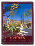 Hyeres French Riviera Beach Resort Wood Sign