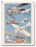 Imperial Airways Airline Wood Sign