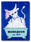 Monsavon au lait Wood Sign