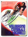 Bicycle Velodromo Comunale Vigorelli Wood Sign