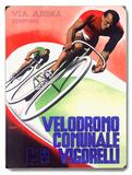 Bicycle Velodromo Comunale Vigorelli Wood Sign