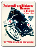 Munchen Motorcycle Racing Wood Sign