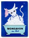 Monsavon au lait Placa de madeira