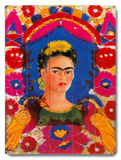 Mexico Frida Kahlo Senorita Fiesta Wood Sign