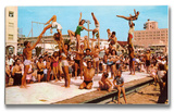 Venice Beach Body Builders II Wood Sign