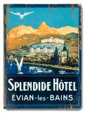 Splendide Hotel, Evian les Bains Wood Sign