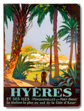 Hyeres Palm Beach Resort Wood Sign