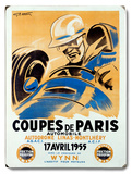 Coupes de Paris/1955 Wood Sign