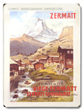 Swiss Alps Zermatt Matterhorn Wood Sign