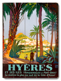 Hyeres Palm Beach Resort Wood Sign
