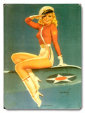Army Air Force Pin Up Girl Wood Sign
