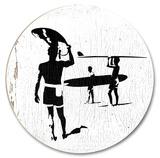 サーファー 木製看板