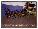 Yellowstone Park Carriage Wood Sign