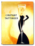 L'Instant Taittinger Champagne Wood Sign