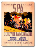 Spa Derby de la Montagne Wood Sign