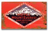Mt Everest Darjeeling India Wood Sign