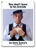 Buster Keaton Levy Jewish Rye Wood Sign