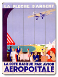 French Aeropostale Aviation Wood Sign