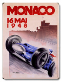 1948 Monaco Grand Prix Wood Sign