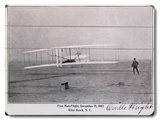 Wright Brothers Flight at Kitty Hawk Wood Sign