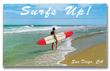 Surf's Up San Diego Wood Sign